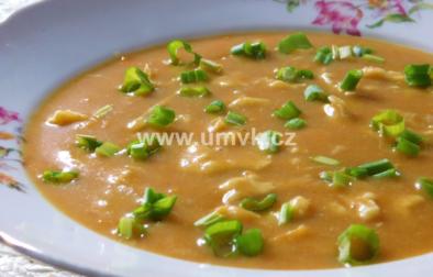 celerová polévka s kapáním