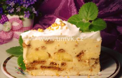 Nepečený pudinkový dort s banánem