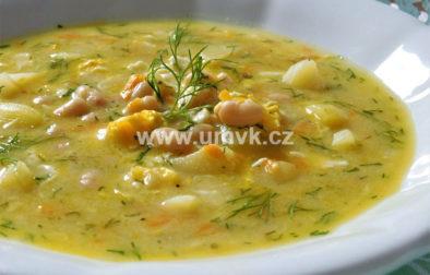 Acidofilní polévka s fazolemi a koprem