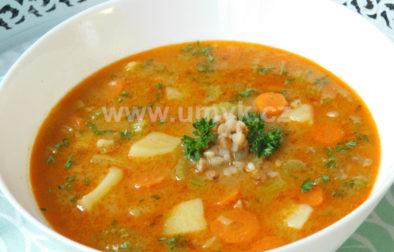 řapíkatá polévka s pohankou